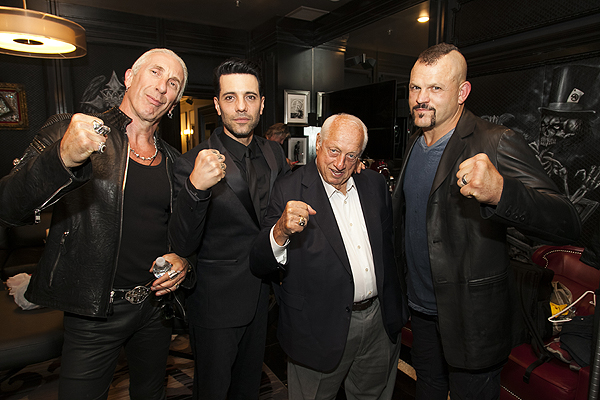 Dee Snider Criss Angel Tommy Lasorda and Chuck Liddell at Criss Angel HELP Sept 12 Jerry Metellus