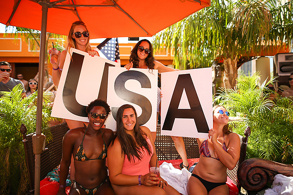 U.S. Water Polo Team at TAO Beach 9.10