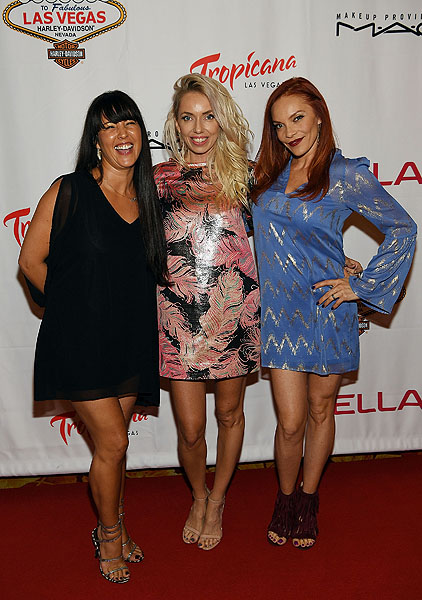 Pussycat Dolls Staci Flood Kasey Campbell and Carmit Bachar Photo credit Denise Truscello Getty Images
