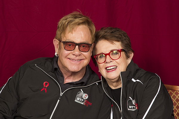 Elton John Billie Jean King 2016 WTT Smash Hits credit CameraworkUSA