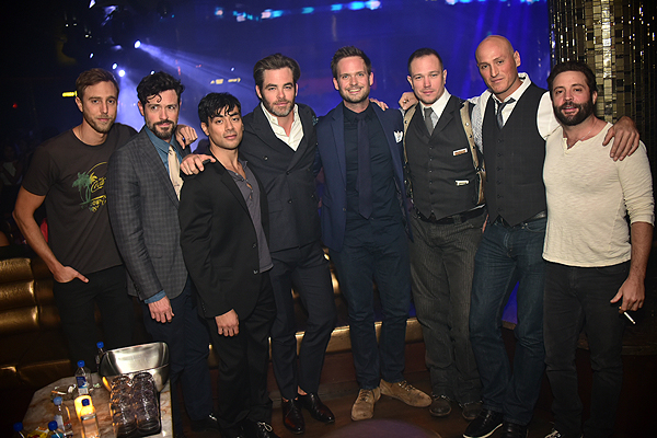 OMNIA Patrick J Adams Chris Pine and Brendan Hines Photo Credit Aaron Garcia