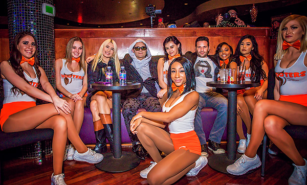 Courtney Anne Mitchell Corey Feldman Eden Feldman and Hooters Girls