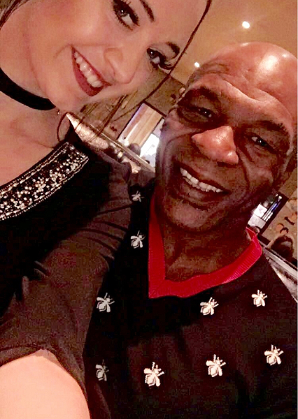 Mike Tyson at The Palm Restaurant of Las Vegas with Hostess Heather Abbott 11.8.16