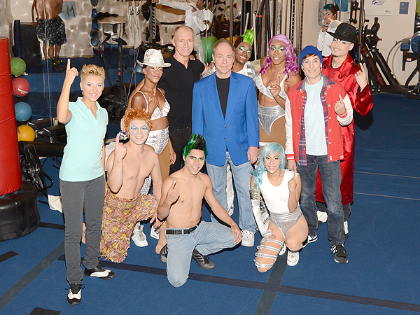 World famous entertainer Teller of Penn and Teller with the cast of Michael Jackson ONE by Cirque du Soleil