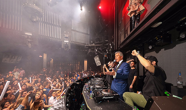 Michael Buffer in DJ Booth at Marquee 11.19.16