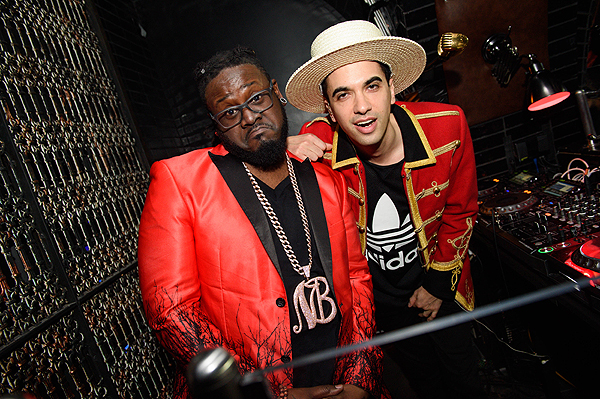 TPain DJ Cassidy at Sean Diddy Combs and CIROC Ultra Premium Vodka host CIROC The New Year 2017 After Party at Lavo Casino Club at The Palazzo on December 31 2016