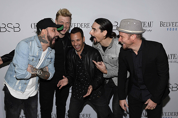 The Backstreet Boys Pose for Photographers