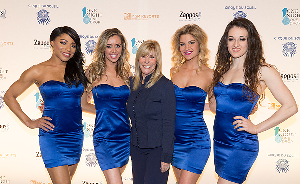 Anita Mann and the girls of FANTASY at Luxor at One Night for One Drop 2017