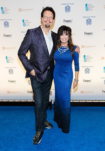 Penn Jillette and Marie Osmond at One Night for One Drop 2017