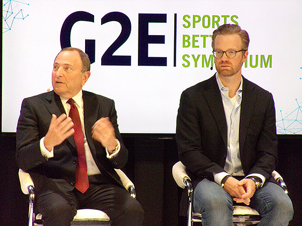 Las Vegas Gaming Conference Gary Bettman NHL Matt King Fanduel